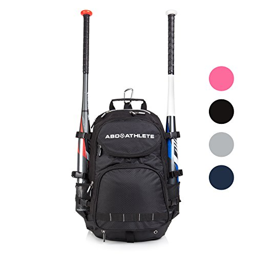 Team Baseball & Softball Bag, School, Travel & Overnight 9 Compartment Bat Pack On Sale. ABD's Space Saver Sports Back Pack w/ Shoe Compartment & Built In School Center comes with a 1 Year Warranty