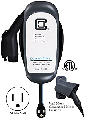 ClipperCreek HCS-40P - 32 amp EV Charging Station, with 6-50 plug, 25 ft cable