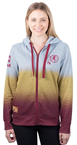 NFL Women's Washington Redskins Full Zip Hoodie Sweatshirt Jacket Hombre, X-Large, Gray