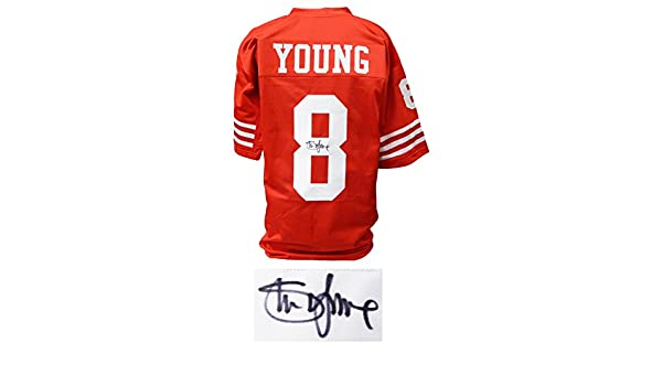 Steve Young Signed Red Throwback Custom College Football Jersey (JSA) at  Amazon s Sports Collectibles Store ef599a0db