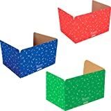 Really Good Stuff Jr. Privacy Shields for Student's Desks - Keeps Their Eyes on Their Own Test/Assignments (Matte (12 Shields), Assorted)
