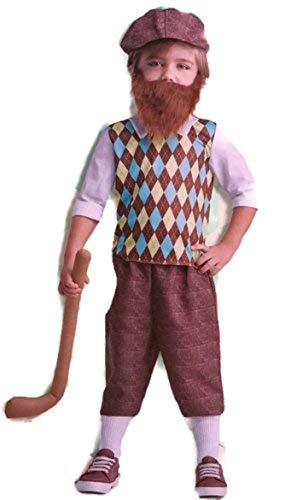 Dept 18 Toddler Boys Lil' Bearded Boys Golfer Costume Halloween, Toddler (3T-4T) -