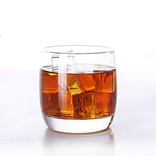 ELIVIA Old Fashioned 10-Ounce Whiskey Glasses Set of 4, Rock Style Lead Free Crystal Glassware for Scotch, Bourbon and…