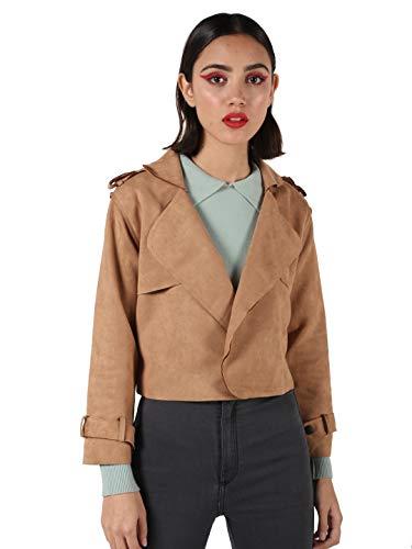 KOTTY Brown Solid Cotton Lycra Women Blazer