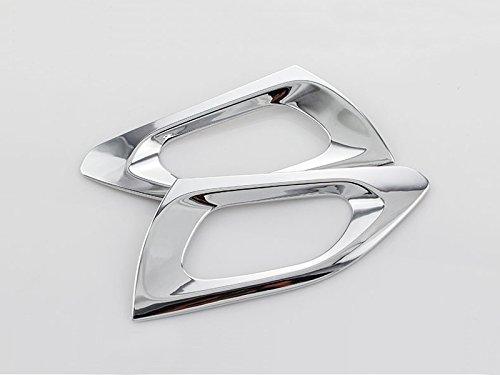 ABS Chrome int/érieure arri/ère Poign/ée de porte Bowl Cover Cap Trim 2 pcs pour Accessoire de voiture PG2008