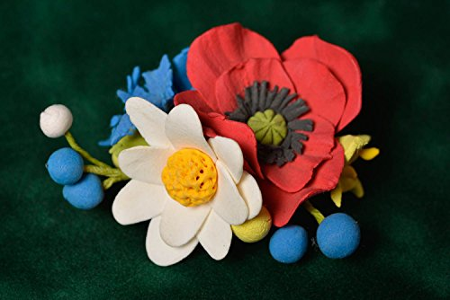Women's Beautiful Handmade Polymer Clay Flower Brooch Designer Accessory ()