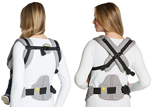 LÍLLÉbaby Lumbar Support, Grey - Ergonomic Lumbar Support for Baby Carrier