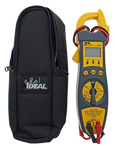 IDEAL INDUSTRIES INC. 61-704 200 Amp Clamp Meter with TRMS, NCV, Shaker, CP, Backlight