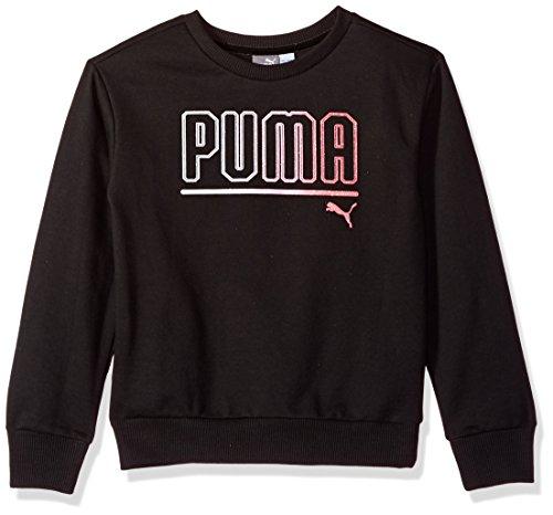 PUMA Big Girls My Crew Sweatshirt with Fold Over Sleeves