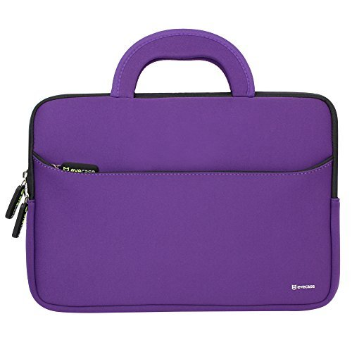 (Evecase HP Stream 11 UltraPortable Handle Carrying Portfolio Neoprene Sleeve Case Bag for HP Stream 11 11-d010nr Notebook 11.6 inch Laptop - Purple)