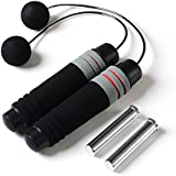 Ropeless Jump Rope Weighted Jump Rope Adjustable Crossfit Speed Rope, Best for Double Unders, Exercise, Crossfit, WOD, Boxing, MMA Training Fitness