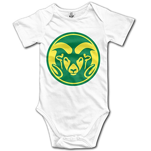 Price comparison product image OOKOO Baby's Colorado State University Rams Bodysuits White 18 Months