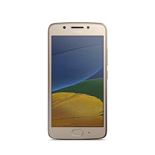 Motorola Moto G5 XT1675 16GB Android (GSM Only, No CDMA) Factory Unlocked 4G/LTE Smartphone (Fine Gold) - International Version