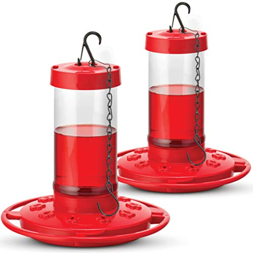 Hummingbird Feeders 16-Ounce Set of 2 - First Nature (3051-C) Bundled With SEWANTA Bird Feeder Chain ()