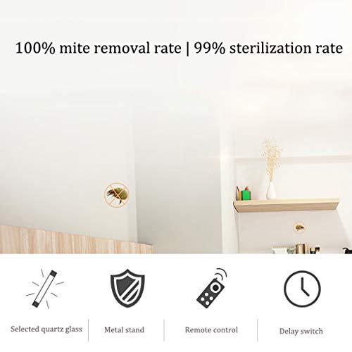 Mmm@ UV-C Mobile Room Steriliser,Uv//Ozone Germicidal Light,Mite Removal Rate100/% /& Sterilization Rate 99.9/%,10s Delay Time Remote Control