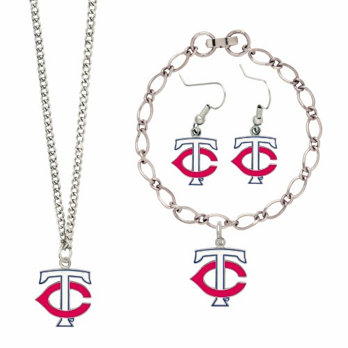 [MLB Minnesota Twins Jewelry Set] (Mlb Jewelry)