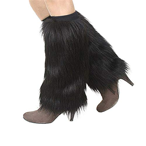 Yu Li Womens Furry Leg Warmers Super Soft