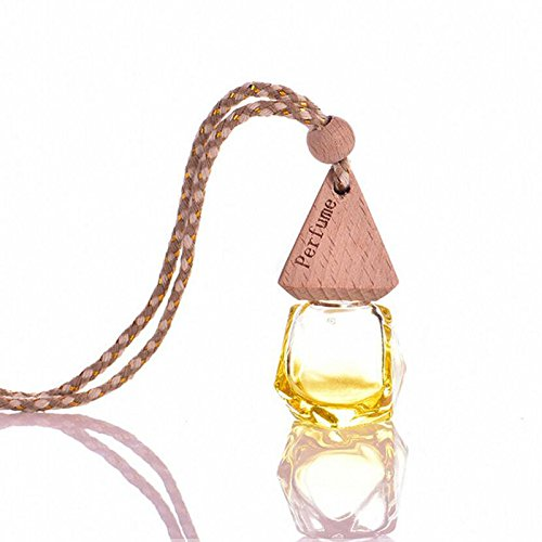 Car Bottle Air Freshner Hanging Perfume Printed Fragrance Scent Diffuser Hanger Portable Home Vehicle Auto Beautyrain