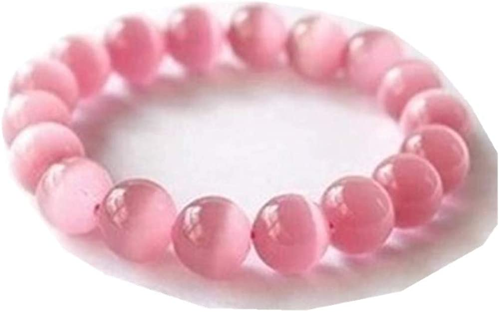 TYGJB Piedra Natural de la Manera Lindo Blanco Azul Rosa Opal Cuentas Pulsera Brazalete para Las Mujeres Pulsera de Ópalo Joyería
