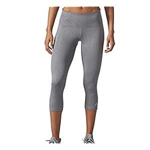 Adidas Ladies' Ultimate Mid-rise 3/4 Embossed Tight (Medium, Grey)