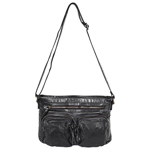 Design cuir bandoulière Noir lavée en Bear sac CL35132 à Uw1d1Cq