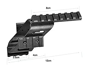 FIRECLUB 2017 Universal Tactical Pistol Scope Sight Polymer Light Weight Mount With 7/8 Weaver & Picatinny Glock 17 5.56 For s&w/1911/Glocks/Walther p22/HKp30/SD9VE 9mm (Color: Black)