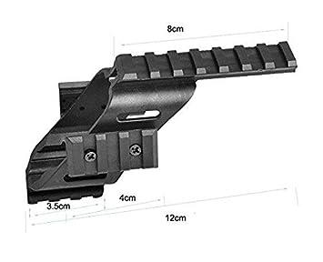 Pistol Slide Rail Scope Mount 20mm Picatinny Rail Adapter Airsoft Mounted RMR
