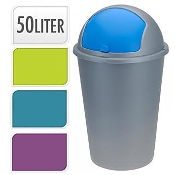 Recycling Mülleimer neu 50 liter kuppel recycling mülleimer müll plastik karton