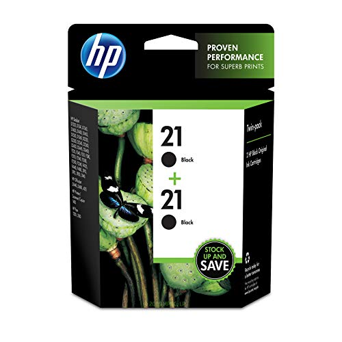 HP 21 | 2 Ink Cartridges | Black | C9351AN (Hp 21 Black Inkjet Print Cartridge C9351a)