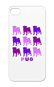 Tear-resistant Purple Purple Pugs Animals Nature Dogs Dog Pug Lover Gifts Pet For Lovers Animal Canine Iphone 5 Protective Case