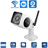 HD Panoramic IP Camera outdoor WIFI Camera 1080P POE Surveillance Camera (White)