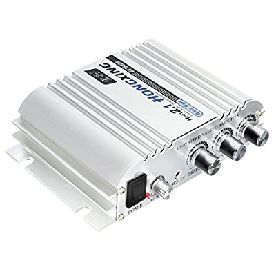 Car Amplifier, ELEGIANT 300W 12V Super Bass Mini Amplifier 2.1-Channel Auto Sound Enlarger Lightweight Hi-Fi CD iPod MP3 MP4 Car Audio Stereo Bass Amplifier from ELEGIANT
