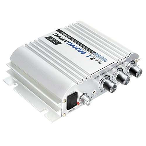 Car Amplifier, ELEGIANT 300W 12V Super Bass Mini Amplifier 2.1-Channel (100 Watt Bass Amplifier)