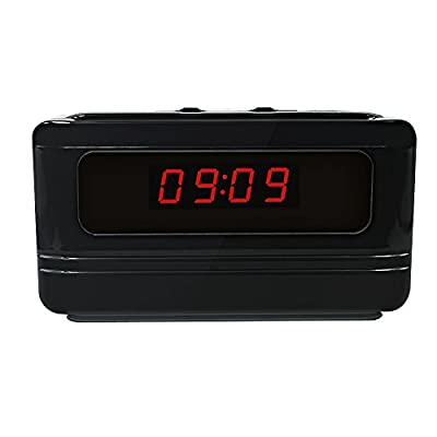 Littleadd Hidden Camera Alarm Clock 1080P Full HD Spy Camera Motion Detection Activated Video Recording Remote Control Security Camera Nanny Cam Black (3rd Version) from Littleadd