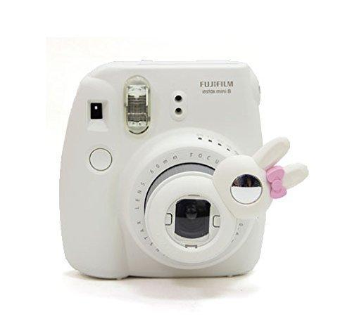 [Fujifilm Instax Close up Lens]-Woodmin Rabbit-style Selfie Lens for Fuji Instant Mini 8/8 Plus/7s Camera (White) (Aluminum Traveler Case)