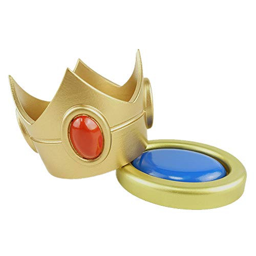 Super Mario Brothers Princess Peach Crown and Brooch Costume Accessory Props ()