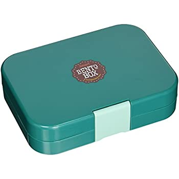 Smartbentobox Leakproof Bento Lunch Box with 4 Storage Compartments, Retro Green