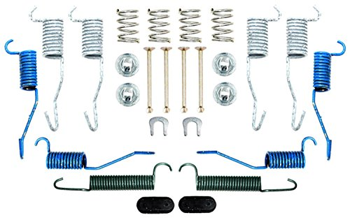 Washer Hardware Kit - ACDelco 18K1603 Professional Front Drum Brake Hardware Kit with Springs, Pins, Retainers, Washers, and Caps