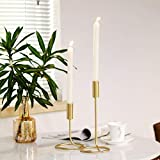 DSDecor 2 Pack Taper Candle Holder Metal Wrought