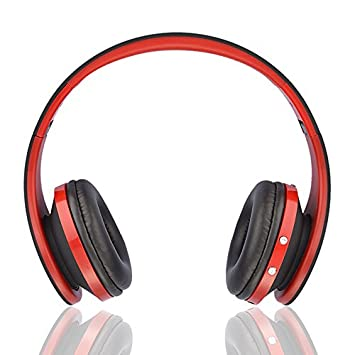 Ziu Smart Items - Auriculares Bluetooth inalámbricos (Cancelación de Ruido, micrófono Incorporado, Radio, conexión Jack 3.5mm) Color Rojo: Amazon.es: ...