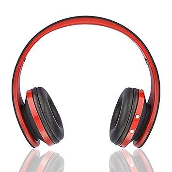 Ziu Smart Items - Auriculares Bluetooth inalámbricos (Cancelación de Ruido, micrófono Incorporado, Radio, conexión Jack 3.5mm) Color Rojo: Amazon.es: ...