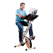 FitDesk Desk Exercise Bike with Massage Bar, White, Universal