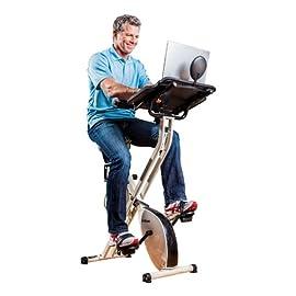 FitDesk Desk Exercise Bike and Office Workstation with Massage Bar
