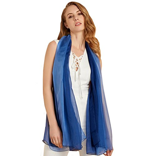 Ysiop Womens 100% Silk Scarves Lightweight Shawls and Wraps with Gift Box