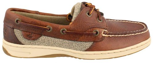 Hand Sewn Boat - Sperry Top-Sider Women's Bluefish Boat Shoe, Tan/Plaid, 5 M US
