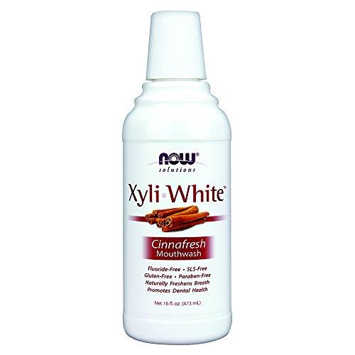 NOW Xylitol Mouthwash Cinnafresh 16 Ounce