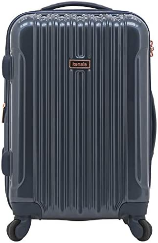 "kensie 20"" ""Alma"" Carry-On TSA-Lock Spinner Luggage, Mystery Blue"