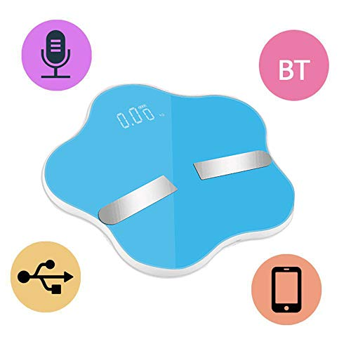 Dreamyth- Home Bluetooth Smart Intelligent Electronic Scale Precision Accurate BMI Weight Scale (Blue)