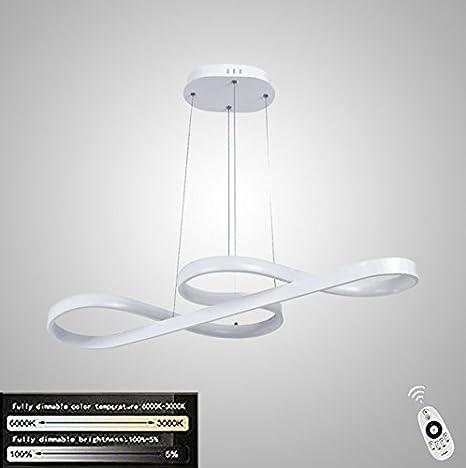 Lámpara LED de techo ZMH, 58 W regulable con el mando a distancia ...
