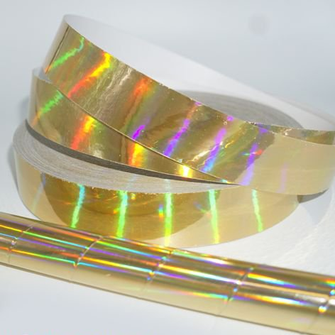 Gold Plasma Holographic Decorative Tape (1-inch x 150 ft) by Hoopologie
